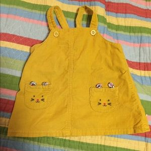 Yellow Cordero's 3m by Carters. Overall dress